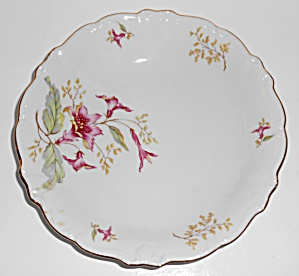 Winterling Porcelain China Hibiscus Soup Plate Mint