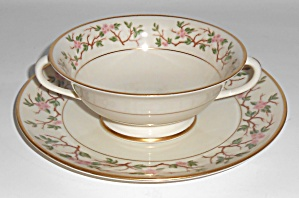 Franciscan Pottery Woodside Fine China Cream Soup & Sau