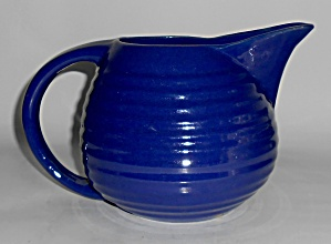 Bauer Pottery Ring Ware Cobalt Restyled Pitcher Mint