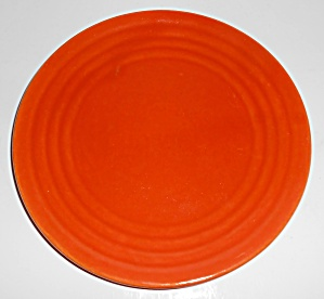 Bauer Pottery Ring Ware Orange Salad Plate Mint