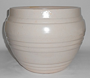 Pacific Pottery Early White Large Banded Jardiniere! (Image1)