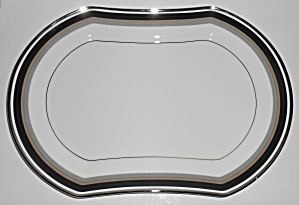 Mikasa Bone China Noir 13in Platter