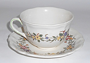 Royal Doulton China Leighton Cup & Saucer Set Mint