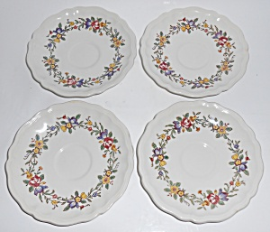 Royal Doulton China Leighton Set/4 Saucers Mint
