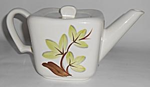 Continental Kilns Pottery Woodleaf Teapot W/lid! MINT (Image1)