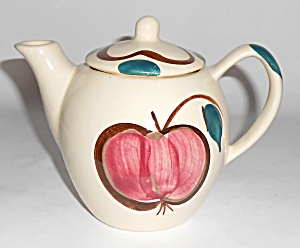 Purinton Pottery Fruit Apple/pear Individual Teapot Mi