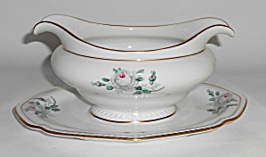 Royal Tettau Porcelain China White Rose Gravy Bowl