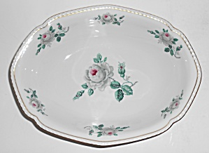 Royal Tettau Porcelain China White Rose Vegetable Bowl
