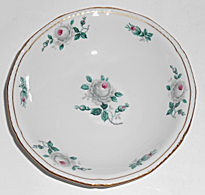 Royal Tettau Porcelain China White Rose Fruit Bowl