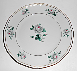 Royal Tettau Porcelain China White Rose Salad Plate