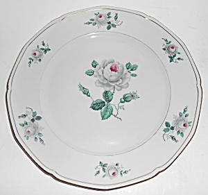 Royal Tettau Porcelain China White Rose Dinner Plate