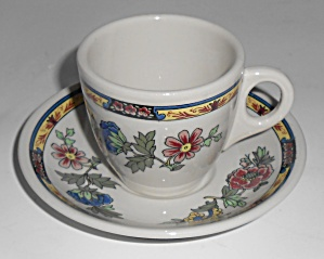Lamerton China Restaurant Demitasse Cup/saucer Set Mint