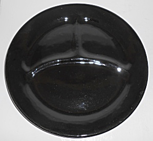 Bauer Pottery Plain Ware Black Grill Plate Mint