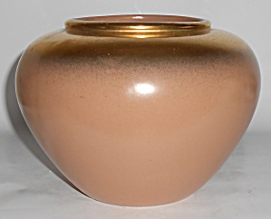 Bauer Pottery Tracy Irwin #146 Tan W/Gold Speckle India (Image1)