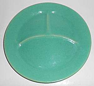 Bauer Pottery Plain Ware Jade Grill Plate! MINT (Image1)