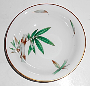 Noritake China Porcelain Canton Bamboo Fruit Bowl Mint