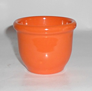 Metlox Pottery Series 200 Poppy Orange Custard Cup Mint