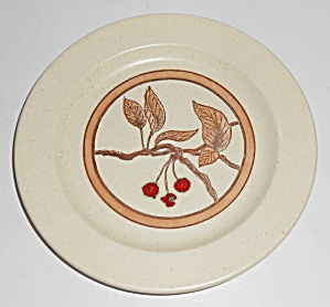 Anchor Hocking Ironstone Wild Cherry Salad Plate Mint