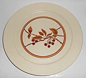Anchor Hocking Ironstone Wild Cherry Chop Plate Mint