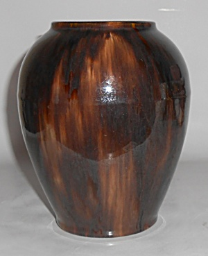 Brush Mccoy Pottery Brown Onyx #050 Art Vase