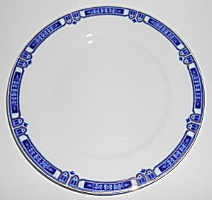 J & G Meakin China Flow Blue W/gold Dinner Plate