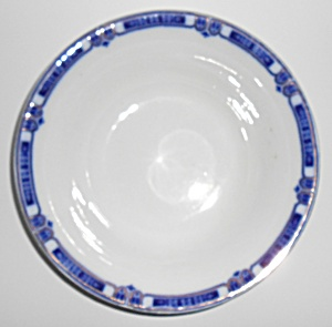 J & G Meakin China Flow Blue W/gold Vegetable Bowl