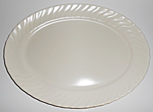 Franciscan Pottery Coronado Ivory Medium Platter Mint
