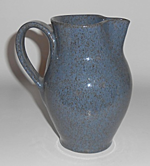 Old Time Pottery Wheel Thrown Dutch Pitcher Mint