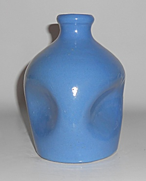 North Carolina Propst Pottery Blue Pinch Vase Mint