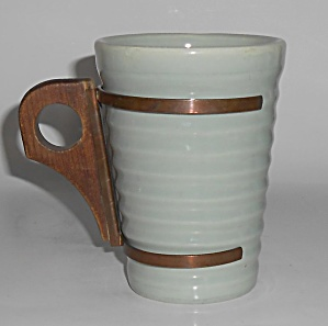 Bauer Pottery Ring Ware Rare 12 Oz Grey Tumbler