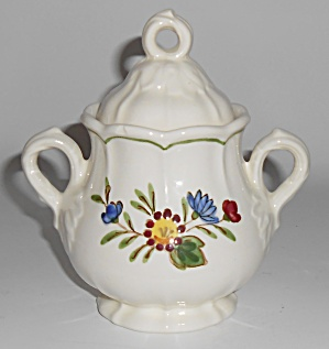 Metlox Pottery Poppy Trail Quail Ridge Sugar Bowl Mint