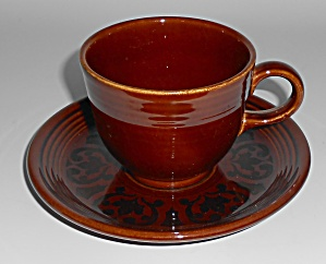Vintage Fiesta Pottery Sheffield Amberstone Cup/saucer