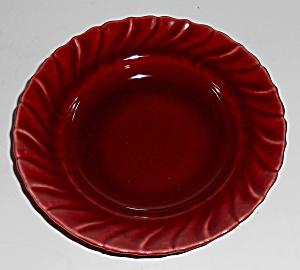 Franciscan Pottery Coronado Maroon Fruit Bowl Mint