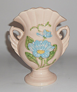 Hull Pottery Magnolia Gloss #h-6 Twin Handled Vase
