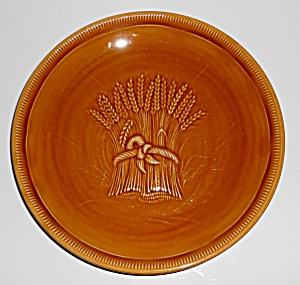 Franciscan Pottery Wheat Harvest Brown Salad Plate Mint