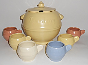 Metlox Pottery Series 200 Tom & Jerry Bowl W/6 Cup Set (Image1)
