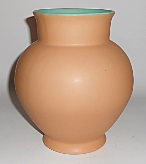 Coors Pottery Brighton 8in Tan/green Vase Mint
