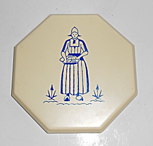 Franciscan Pottery Hermosa Dutch Woman Octogon Tea Tile