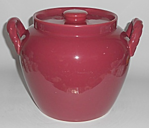 Coors Pottery Rosebud Red Cookie Jar