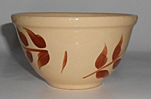 Watt Pottery Autumn Foliage #5 Mixing Bowl Mint