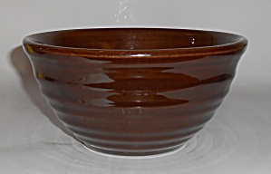Bauer Pottery Ring Ware #24 Dark Brown Mixing Bowl Mint