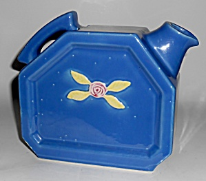 Coors Pottery Rosebud Blue Water Server