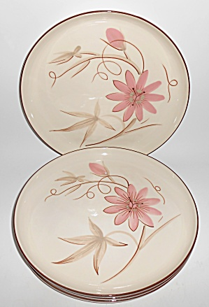 Winfield China Pottery Passion Flower 4 Dinner Plates