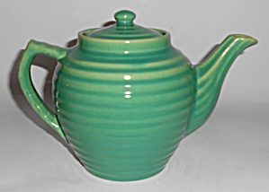 Bauer Pottery Ring Ware Jade Teapot W/lid