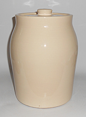 Coors Pottery Rare Ivory Cookie Jar Mint
