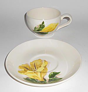 Santa Anita Ware Pottery Cup Of Gold Cup/saucer Set