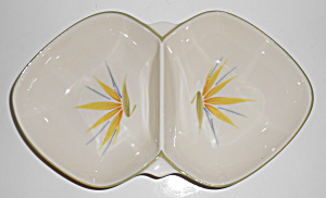 Winfield Pottery China Bird Of Paradise Divided Bowl