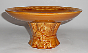 Franciscan Pottery Wheat Harvest Brown Compote Mint