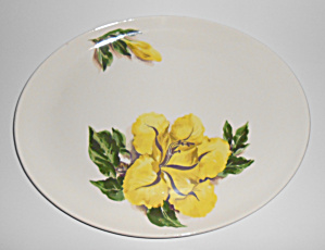 Santa Anita Ware Pottery Cup Of Gold Floral Platter