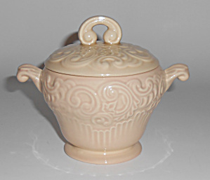 Franciscan Pottery Victoria Old Ivory Sugar Bowl & Lid